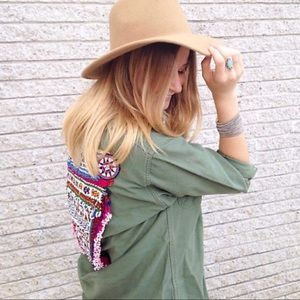 Free People / Gypsy River Beaded Army Jacket